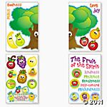 For faithful fun, nothing tops this Fruit of the Spirit Bulletin Board Set, which is packed with crucial Sunday School lessons for kids. Toddler Bible Lessons, Bible For Kids, Lessons For Kids, Sunday School Lessons, Sunday School Crafts, Bible Fruit, Religious Bulletin Boards, Bible Story Crafts, Vbs Crafts