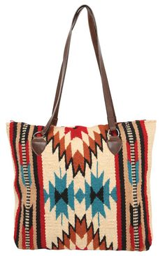 Newly Designed, handwoven of imported wool in classic Zapotec styles and rich colors. These handcrafted handbags are a Southwest style favorite. Zipper closure, fully lined inside, interior pocket. Leather Fringe, Leather Handle, Fringe Handbags, Saddle Blanket, Native American Fashion, Vintage Boutique, Textiles, Bag Making, Purses And Bags