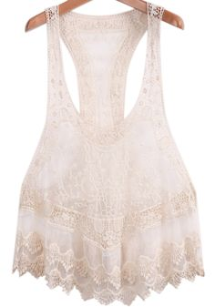 Apricot Off the Shoulder Gauze Lace Layering Tank Top