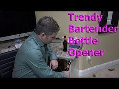 Trendy Bartender Wall Mounted Bottle Opener Demonstration in 4K UltraHD - YouTube