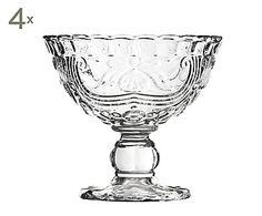 Set de 4 copas de helado de vidrio Imperial Sundae