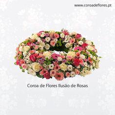 Coroa de Flores Ilusão de Rosas  #CoroaFlores #Flores #Rosas  http://ift.tt/24Hbg8p