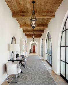 HGTV: This large home owes its beautiful Spanish Revival style to Hugh Jefferson Randolph Architects, whose design evokes the best of the historical style. Grey, white and wood Modern Spanish Decor, Spanish Home Decor, Spanish Interior, Home Modern, Modern Homes, Kitchen Modern, Modern Decor, Rustic Decor, Kitchen Decor