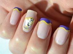 Bonjour, Chip, from Beauty and the Beast. | 16 Examples Of Disney Nail Art That Will Render You Speechless