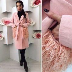 С чем носить розовое пальто 2018 фото модные направления 26