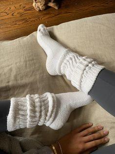 The coziest cotton sock. Made in America. Available in small quantities. Comfy Socks, Cute Socks, Black Knee High Socks, Looks Style, My Style, Slouch Socks, Mode Du Bikini, Fluffy Socks, Black Knees