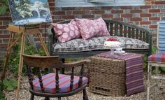 Exmere & Manton fabric collection by William Yeoward injects an autumnal feel into your home, which has warm stripes, elegant checks and country prints Outdoor Sofa, Outdoor Furniture Sets, Outdoor Decor, Roman Blinds, Summertime, Living Spaces, Sweet Home, Relax, Colours