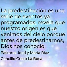 La predestinación es una serie de eventos ya programados; revela que nuestro origen es que venimos del cielo porque antes de predestinarnos, Dios nos conoció.