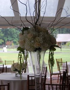 Hydrangea Centerpieces by Georgianne Vinicombe at Monday Morning Flower and , via Flickr