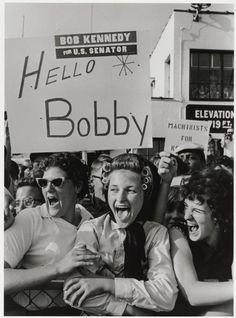 Supporters of Robert Kennedy's senate campaign.  Cornell Capa 1964