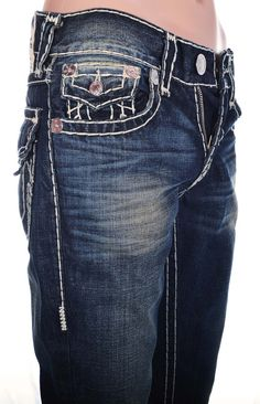 True Religion Mens Straight with Flaps Jeans Size 34 Super T in Serene NWT $337 #TrueReligion #ClassicStraightLeg