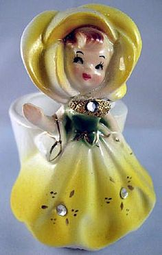 Bobby Pin Holder Yellow Golden Girls Enesco Beautiful Christmas Decorations, Holiday Decor, Bobby Pin Holder, Lipstick Holder, Vintage Room, Golden Girls, Vintage Beauty, Antique Dolls, Hair Pins