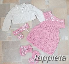 Sets – Baptism outfit babygirl 3-9 months dress bolero – a unique product by tappleta on DaWanda