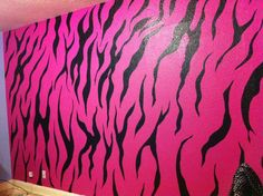 Zebra stripe, hand painted on wall