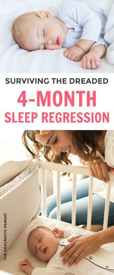 "There's a collective sigh from Moms everywhere when you hear the words, ""4 Month Sleep Regression."" It's the first massive sleep regression stage most babies will go through and parents who have just gotten their baby on a solid sleep schedule, experience the dreaded sleepless nights right along with them. Learn how long the 4 month sleep regression lasts and how you help your baby through this phase with these 4 month sleep regression tips. #4monthsleepregressio #sleepregression #babysleep"