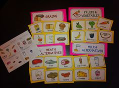 Based on Canada's Food Guide - students can sort food into the four food groups using these food cards and group labels. There is a cut and paste activity and a word search included. Food Groups For Kids, Four Food Groups, Nutrition Activities, Kids Nutrition, Classroom Tools, Classroom Ideas, Poppy Craft For Kids, What Are Carbs, Canada Food Guide