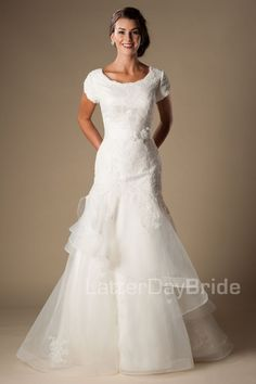 'Atticus' modest wedding dress, modest gown, modest bride,