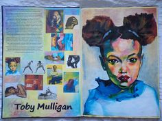 Sketchbook work Artist research Toby Mulligan #artAesthetic #Sketchbook