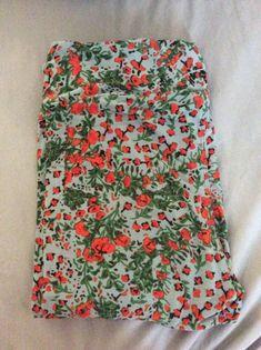 Off White Floral LuLaRoe Kids Leggings S//M Small Medium NWT Blue Yellow Pink