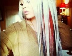The endless quest for vibrant reds, contrasting black, and impeccable white. Such a hard look to achieve. Red Blonde Hair, Black And Blonde, Red Black, 2015 Hairstyles, Pretty Hairstyles, Blonde Hairstyles, Pretty Hair Color, Girly, Light Hair