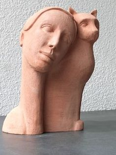 Clay sculpture by Sonja Müller