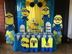 Minions Birthday Theme Minion Party 2nd Parties Themes