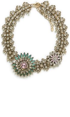 Zara Crystal Flower Necklace, £22.99
