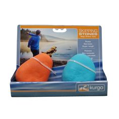 Skipping Stones Dog Toys ~ Love these floating skipping stones ~ why should the dog have all the fun ~ Non-toxic, dishwasher safe, super durable, bright colours   Kurgo