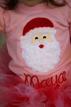 Girls Christmas Onesie or Shirt - Santa's Sweetheart - Pink Christmas shirt on Etsy, $28.00