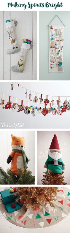 The holidays are here! You know what that means... time to break out the tree and decorate the home. Luckily, The Land of Nod has everything you need to make one stylish and memorable holiday. Plus, all of our ornaments are unbreakable, so kids can lend a hand with Christmas decorations. And don't forget the finishing touches with our advent calendars and Christmas stockings (they're the perfect duo for making any room merry and bright).