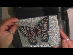 Stained Glass Look Card using micro-fine glitters - Butterfly Thinlits Die