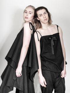 UNISEX fashion, LAURIJARVINENSTUDIO Eco Friendly Fashion, Unisex Fashion, Black Fabric, That Look, Unique, Collection, Dresses, Style, Vestidos