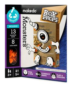 Take a look at this Box Props Monster Faces - Set of Two by makedo on #zulily today!