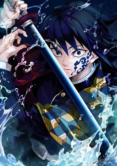 Giyuu Tomioka - Kimetsu No Yaiba (Demon Slayer) Anime Demon, Wallpaper, Slayer Anime, Demon, Anime Lovers, Anime, Fan Art, Manga, Dragon Slayer