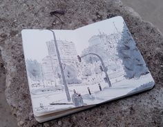 Aluche, Madrid, cool grey copic markers.