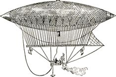 Steampunk Turkey | Vintage Dirigible Images - Steampunk - The Graphics Fairy
