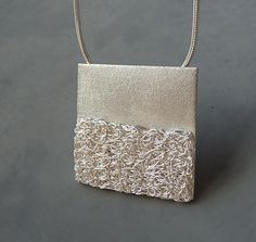 Sterling silver and fine silver contemporary by Kailajewellery, £65.00