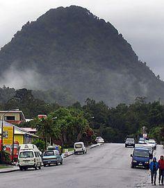 The small hamlet of Franz Josef, New Zealand