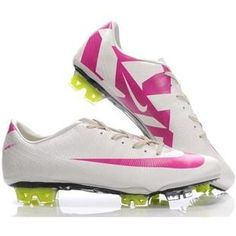 Nike SoccerFootball Cleats   NEW White Pink Nike Mercurial Vapor Superfly III FG Safariout of stock