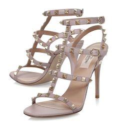 1afe89e0aa2 Valentino Garavani Leather Rockstud Sandals 105