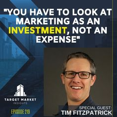 I was a guest on the Target Market Insights: Multifamily + Marketing Podcast with John Casmon and shared how to create 90-day marketing plan. You need to have a sound marketing plan and strategy in place before jumping into the tactics, and we discuss how to efficiently and effectively create that marketing plan. Small Business Marketing, Marketing Plan, Growing Your Business, Special Guest, Insight, Investing, Target, How To Plan, Create