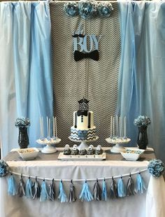 Little man, mustaches, and bow ties Baby Shower Party Ideas | Photo 1 of 6