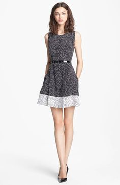 Miss Wu Dot Print Pleated Silk Dress (Nordstrom Exclusive) available at #Nordstrom