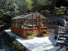 9 x 16 traditional Freestanding greenhouse on Sturdi-built base