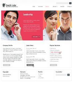 South lake corporate #Joomla #template. #themes #business