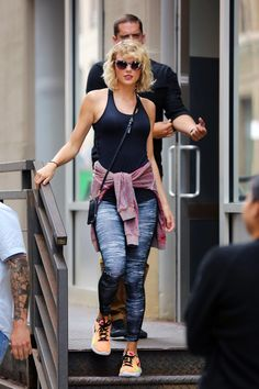 Taylor leaving the gym in NYC