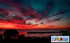 Loco amanecer en la playa de Sacaba