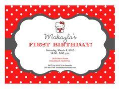Free Printable Hello Kitty Invitation Birthday Party Invitations