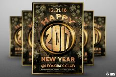 """Check out my @Behance project: """"New Year Flyer Template V4""""…"""