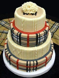 Omg! A Sweater and Burberry wedding cake!